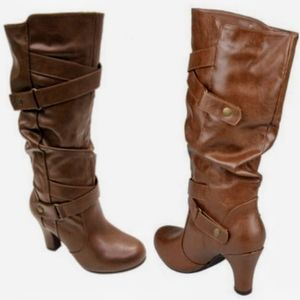 Madden Girl Pin Up Boots in Congac